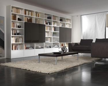 mobililibrerie, mobili librerie, librerie moderne, librerie design, soggiorni librerie ...