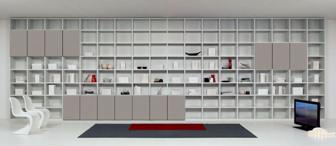 Librerie Moderne Design. Libreria Componibile A Parete Almond P With ...