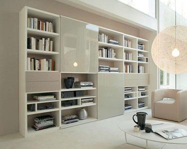 Mobililibrerie mobili librerie librerie moderne for Librerie di design a parete